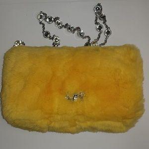 Miu Miu Lapin Fur and  Swarovski crystals Bag